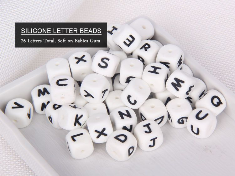 Silicone Alphabet Letter Teething Beads wholesale