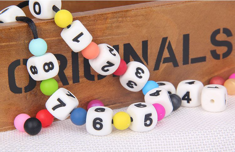 Arabic numerals silicone beads wholesale