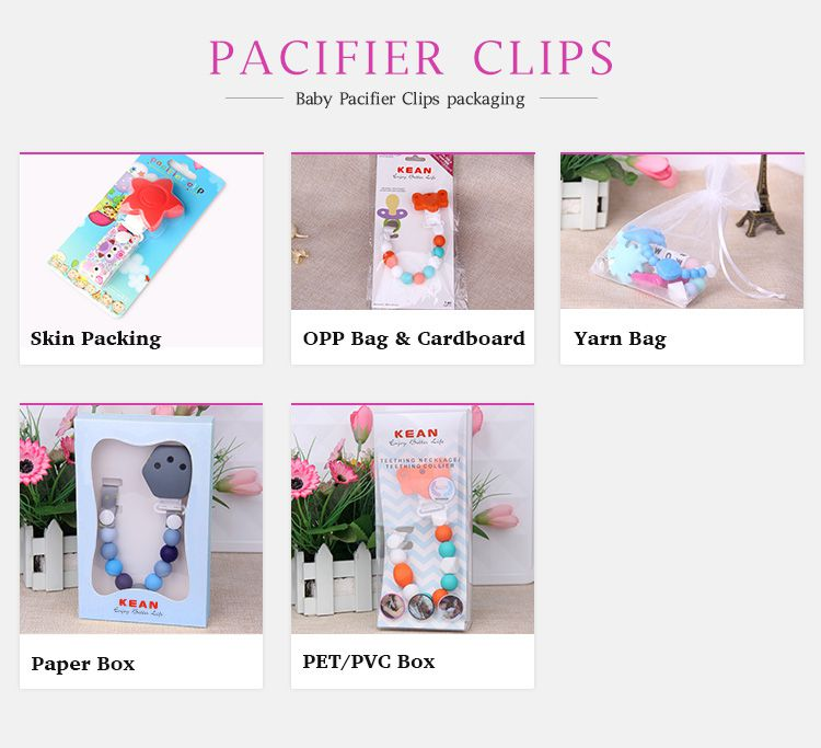 pacifier clips PVC packing