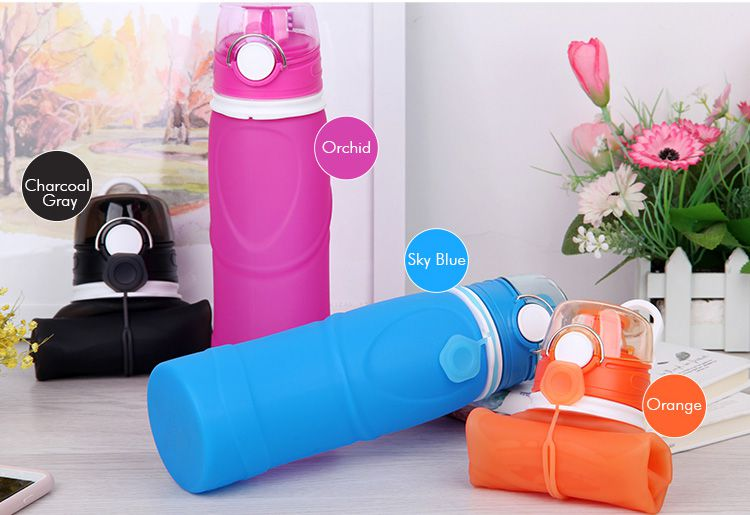 Travel Water Bottle, Silicone Travel collapsible water bottle