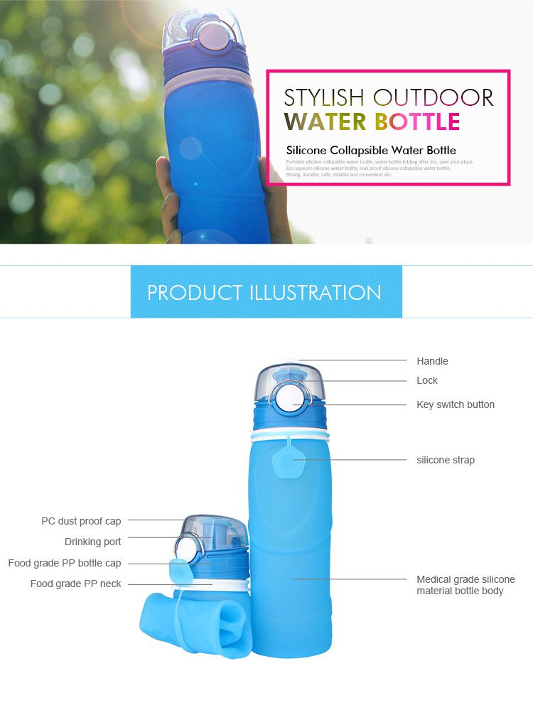 Collapsible water bottle are light, foldable, and resistant to heat and cold