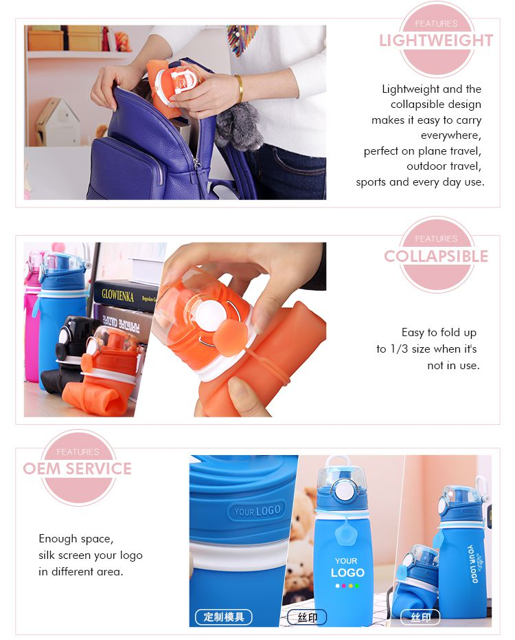 collapsible travel drink bottle