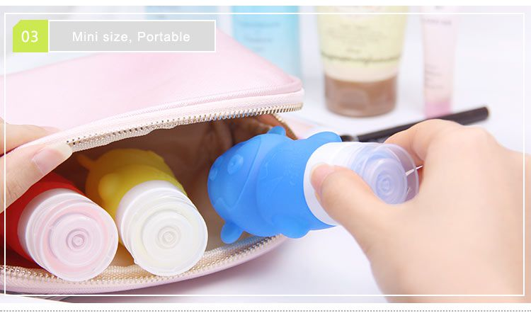 monkey silicone travel shampoo bottles