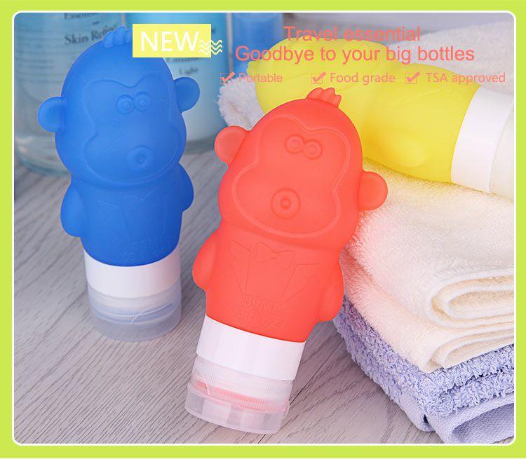 Travel Shampoo Bottles, Portable Silicone Travel Bottles Set