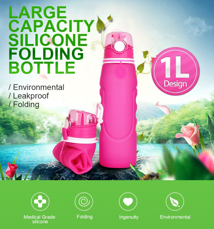 Collapsed Water Bottle, Collapsed Reusable Sports Bottles