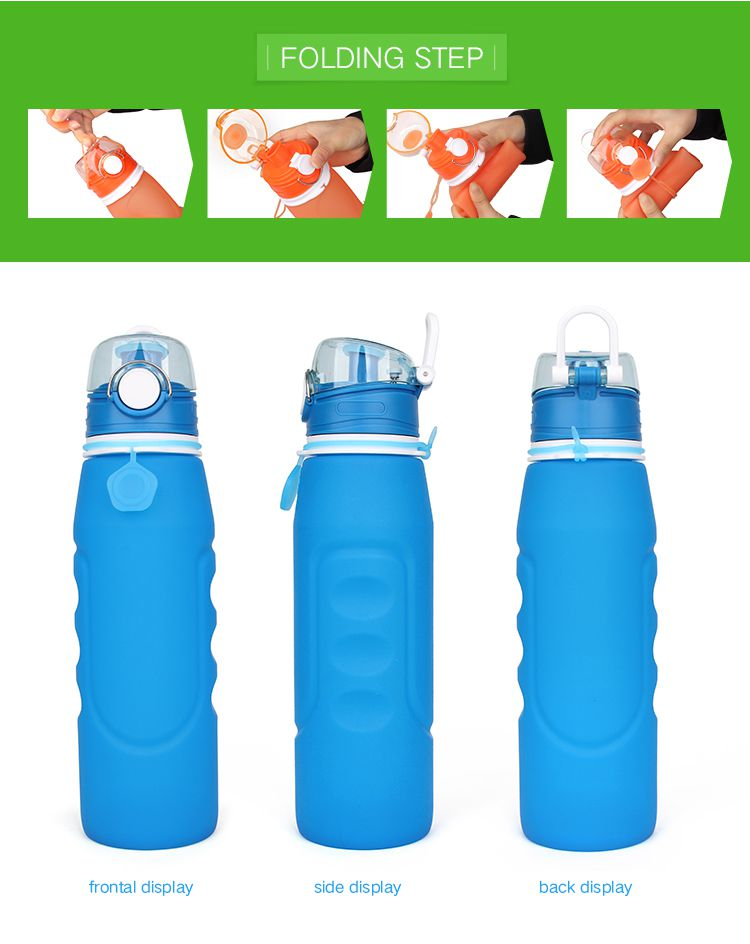 collapsible spill proof water bottle