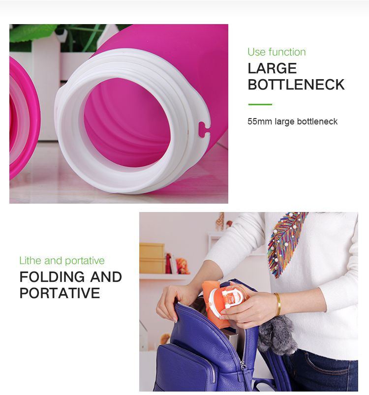 2017 new collapsible water bottle 1 litre