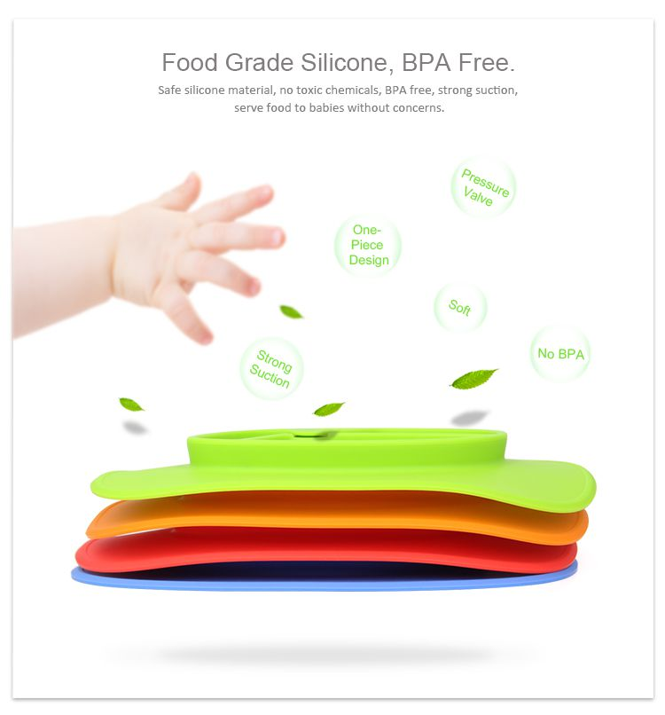 Silicone Baby Plate Placemat Plates Baby Food Mat