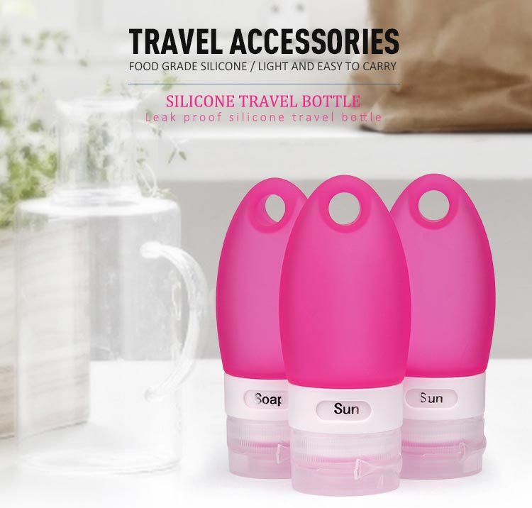 100ml travel bottles, silicone travel bottle set