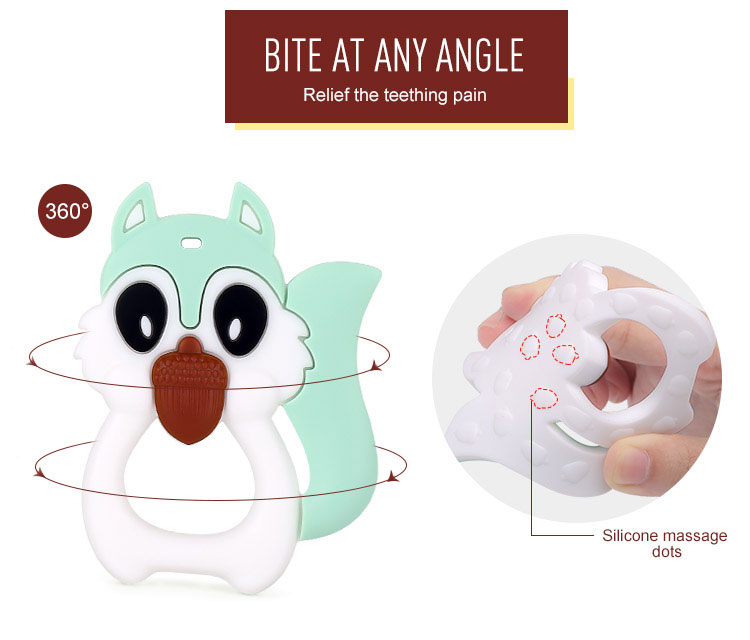Adorable squirrel Silicone Teething Toy