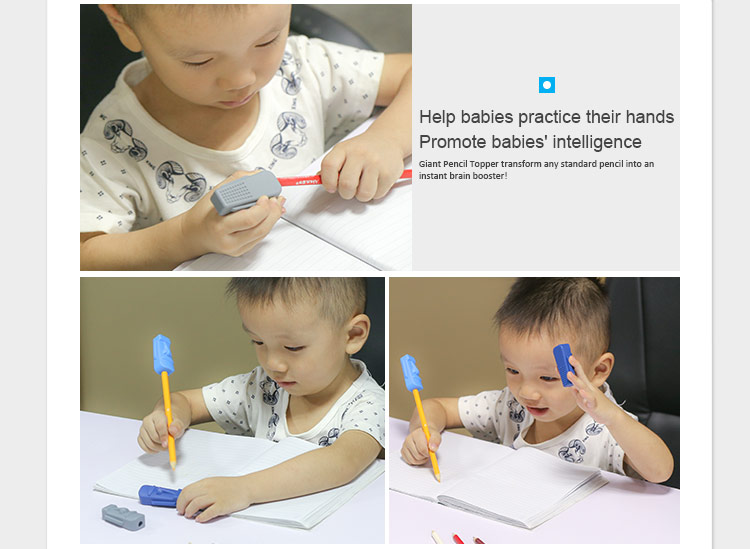 Safe chewing pencil topper