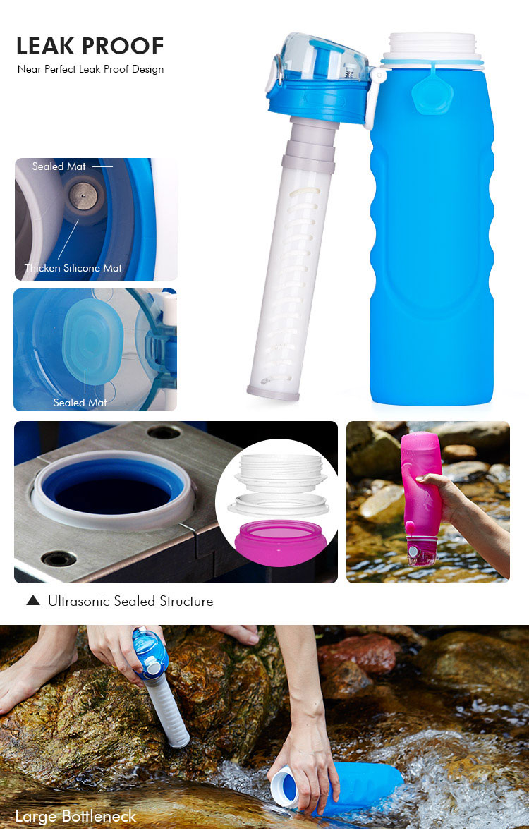 leak proof Water bottle with filter