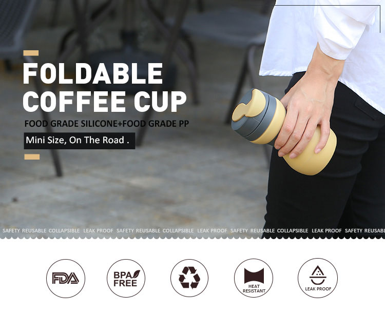 Foldable Cup for Travel, Foldable Coffee Cup 2018 new arrival