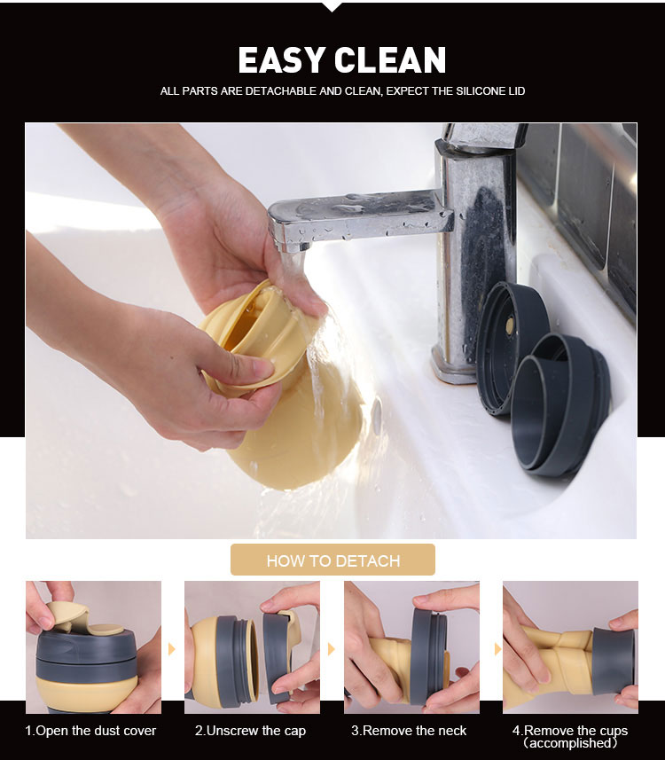 foldable cup easy clean