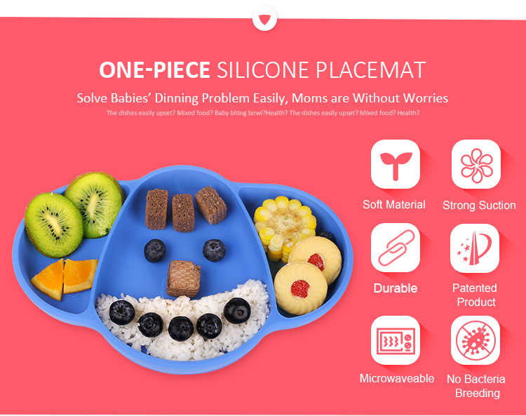 Silicone Placemat For Toddlers And Kids Baby Food Mat