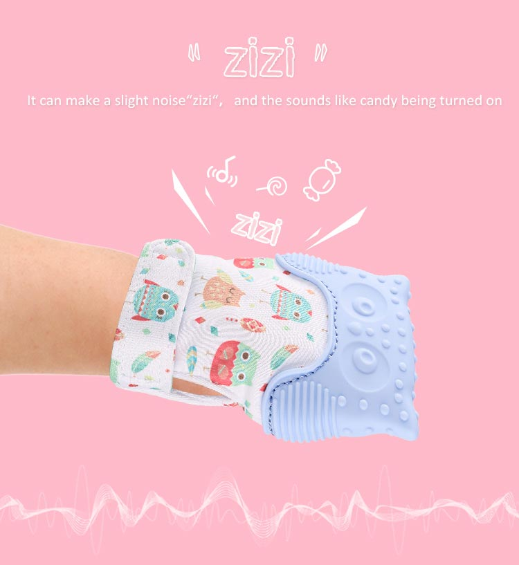 silicone teething glove