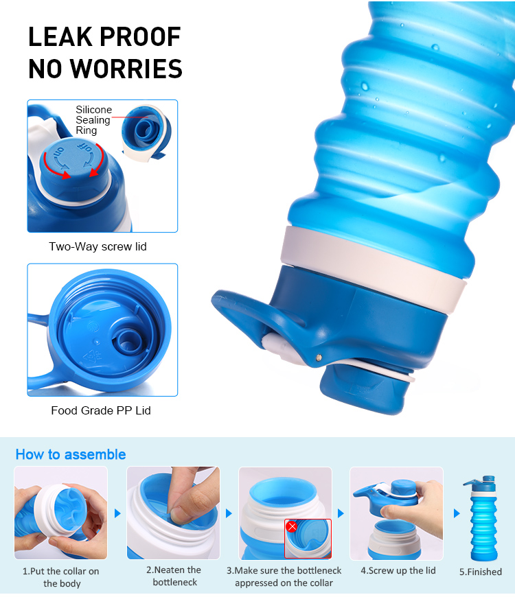 leak proof Flexible Water Bottle
