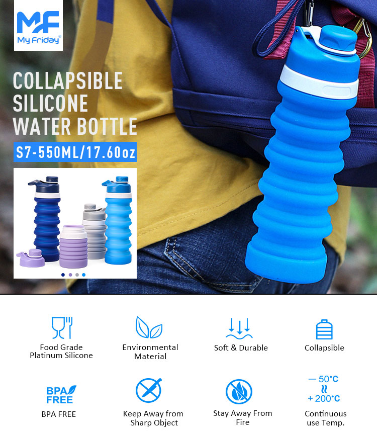Flexible Water Bottle, Collapsible Silicone Water Bottles Wholesale