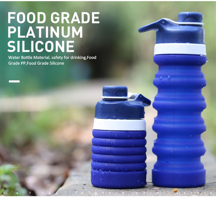 Flexible Water Bottle Collapsible Silicone Water Bottles