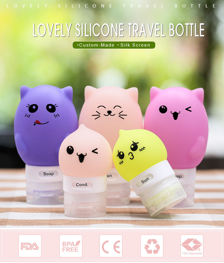 Cute travel bottle promotional gift,  cheap creative corporate gifts customization