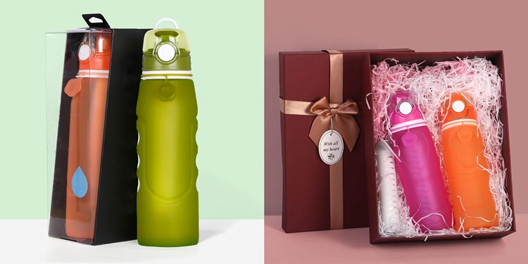 Personalized collapsible water bottle