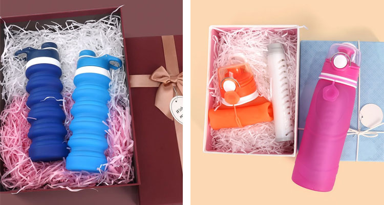 Water bottle gift,  Custom Personalized collapsible water bottle