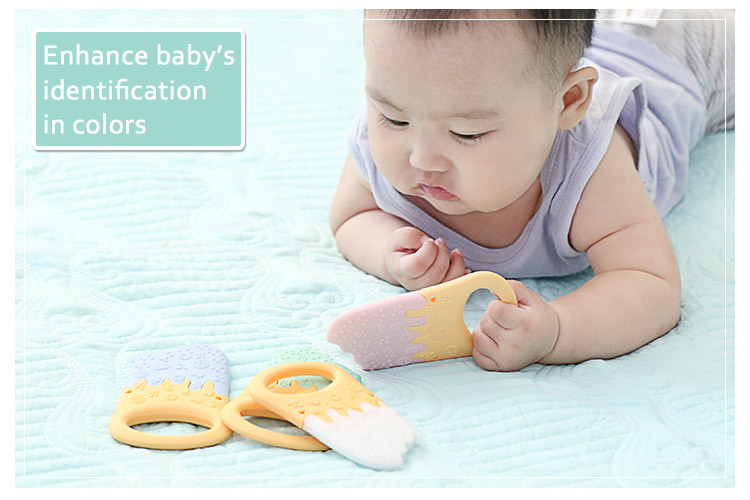 ice cream Silicone teether wholesale