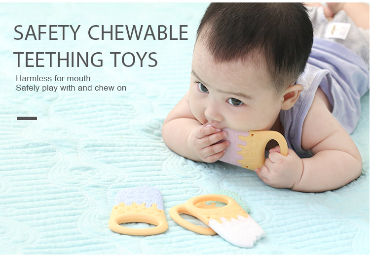 Silicone teether wholesale - ice cream baby teething toys
