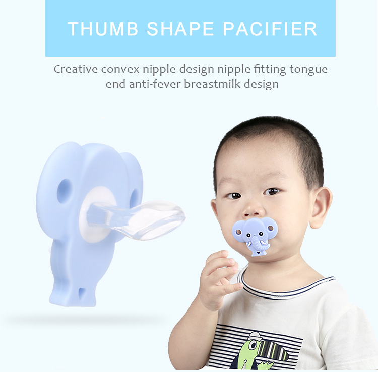 Food grade silicone pacifier