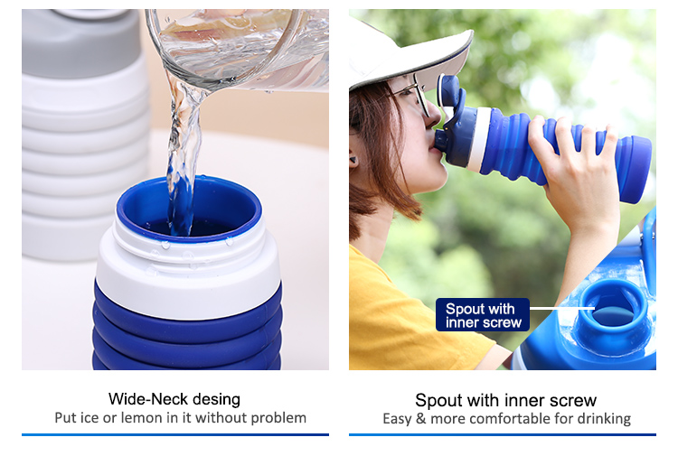 Silicone Pocket Water Bottle