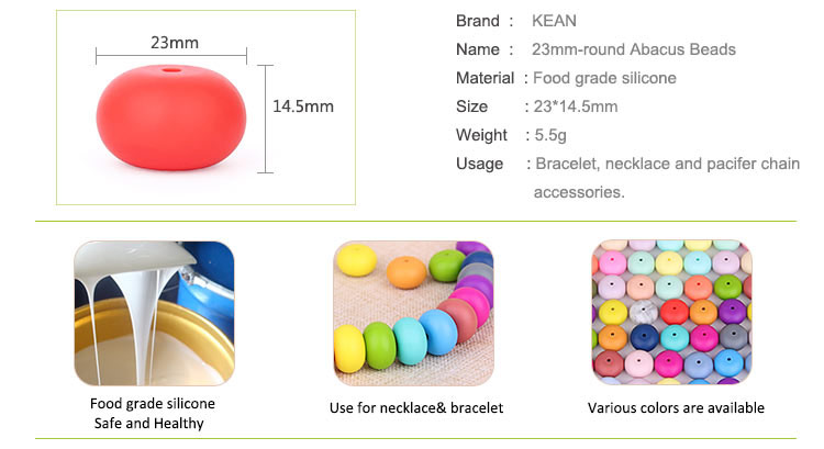 Silicone Teething Beads Bulk Wholesale, Bpa Free Chewable Beads