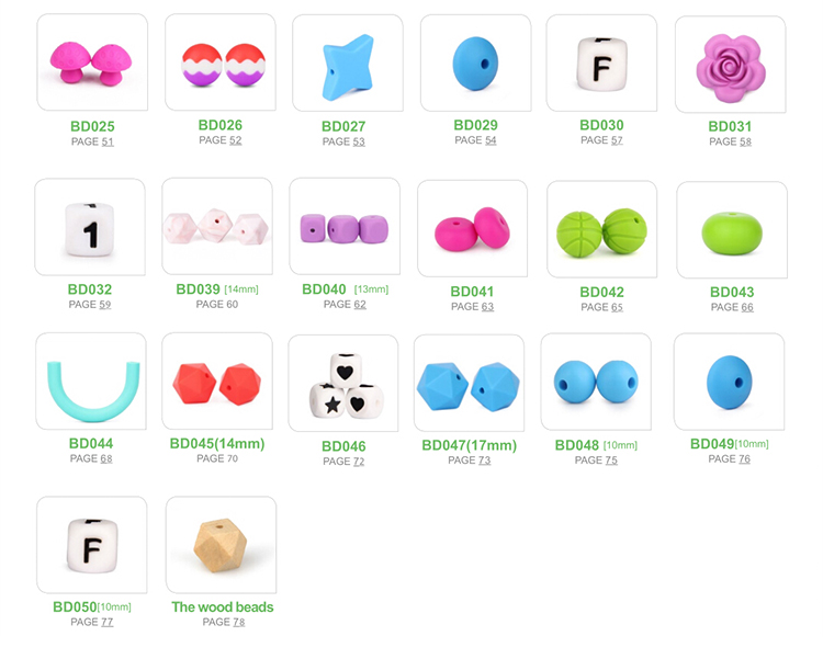 Food Grade Silicone Baby Beads bulk