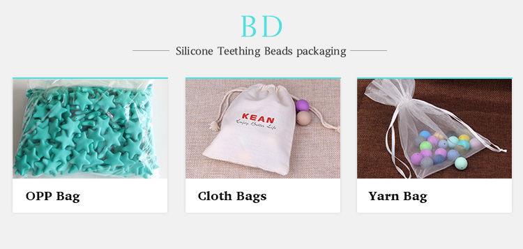 silicone baby beads packaging