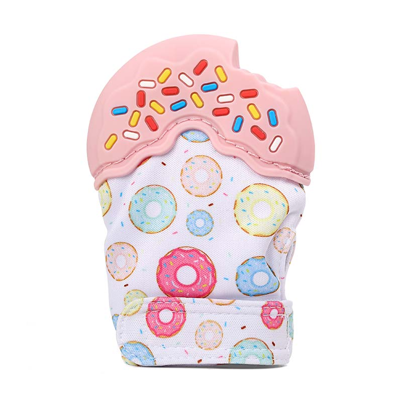 baby chew teething mitt
