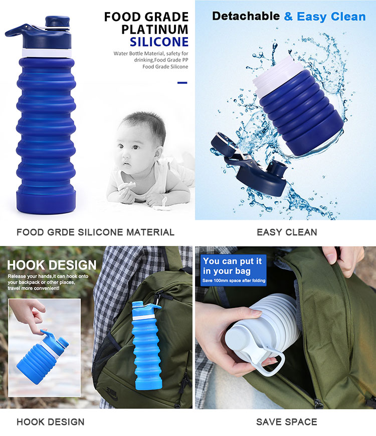Best Collapsible Water Bottle of 2019 - 750ml Foldable Water