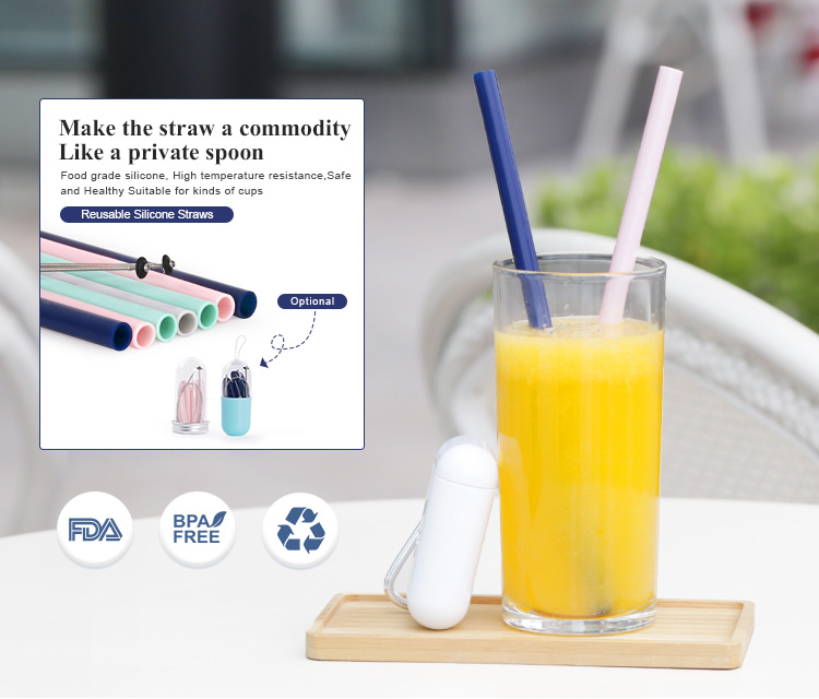 Reusable drinking straws, bulk silicone bendy collapsible