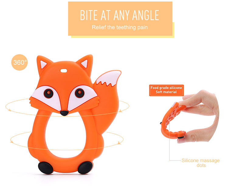 Silicone Teether Fox Wholesale