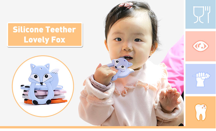 Silicone Teether Fox Wholesale, Best Baby Teething Toys Feeder  Safe