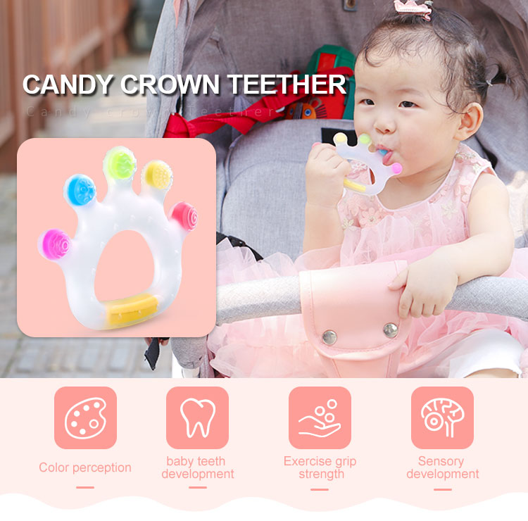 Cooling Teether - Custom Safe Baby silicone teether toys Crown
