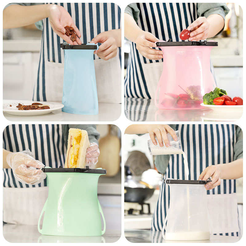 Best Reusable Silicone Sandwich Bags 2019 - 1500ml Silicone Food Bags