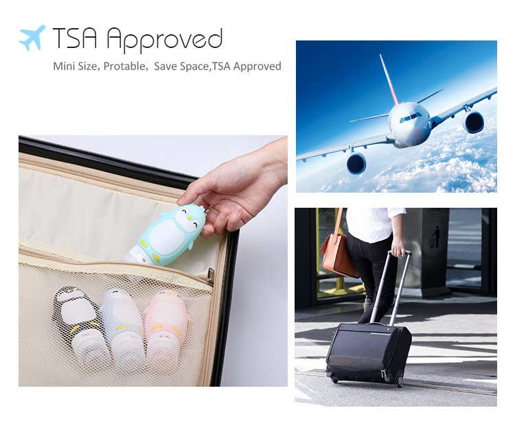 TSA approved travel containers