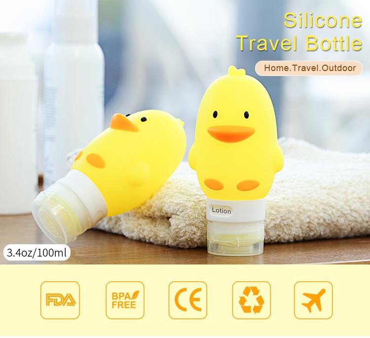 60ml Travel Tubes Set, Leak Proof Refillable Travel Toiletry Bottles