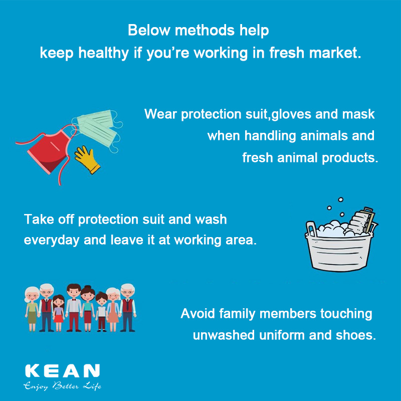 Below methods help keep healthy if you're working in fresh market.