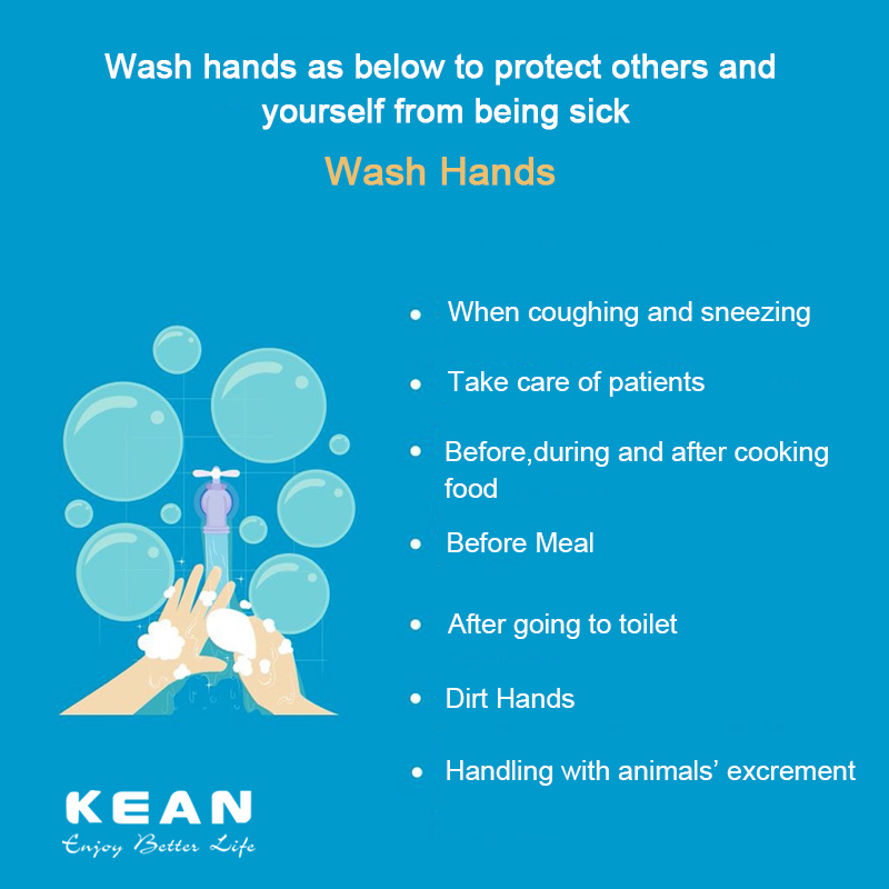 Wash hands as below to protect others and yourself from being sick