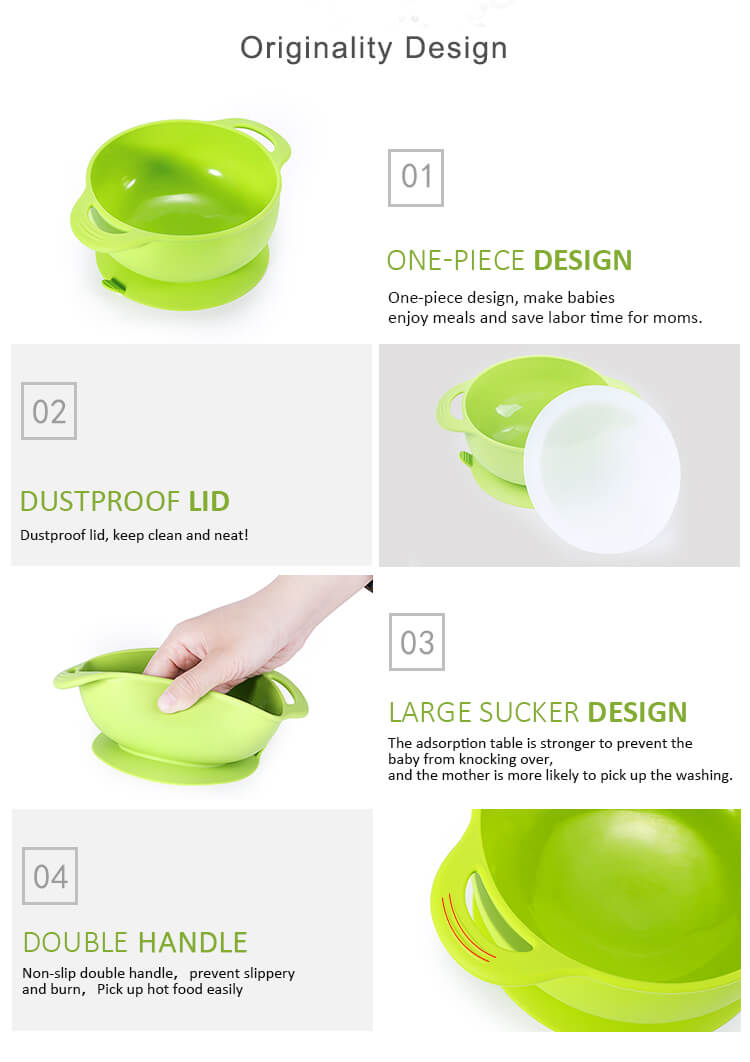 Children Silicone Bowl with Super Suction