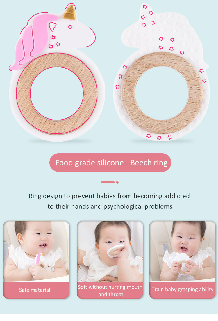 Diy Teethers bpa free - Custom Silicone and Wood Teether for Baby
